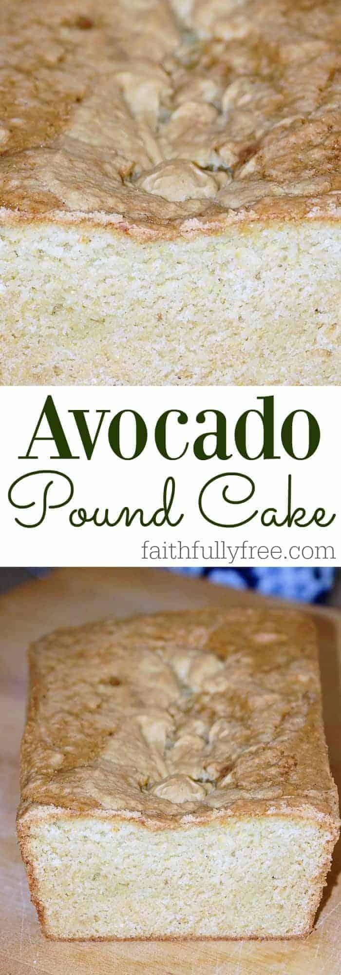 Super Moist Avocado Pound Cake Recipe
