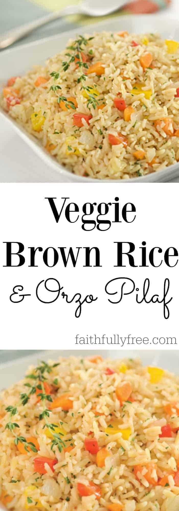 Amazing Veggie Brown Rice & Orzo Pilaf