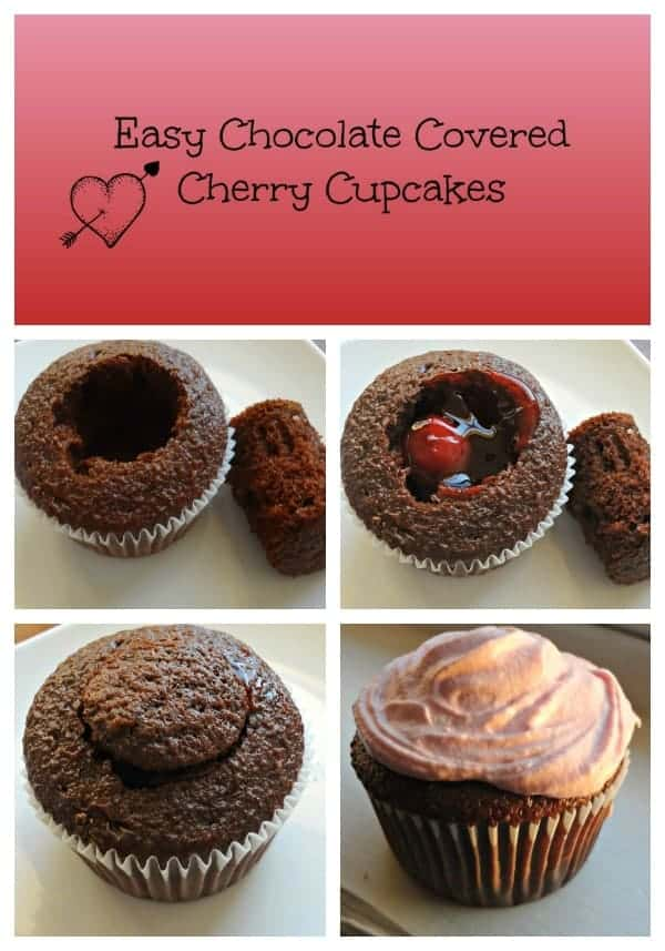 Chocolate Cake Mix And Cherry Pie Filling Cupcakes
