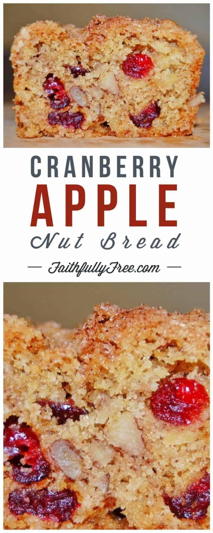 Cranberry-Apple-Nut Bread Recipe