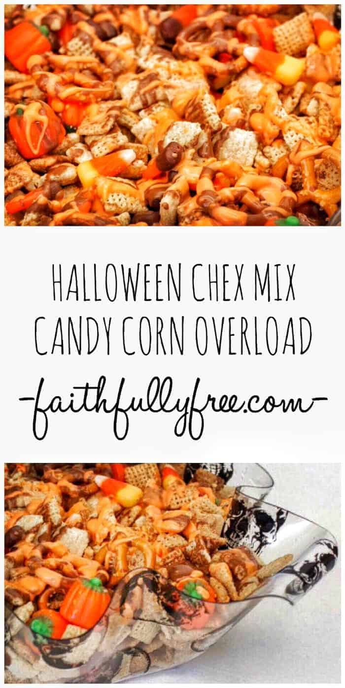 Halloween Chex Mix Recipe Candy Corn Overload | Faithfully Free