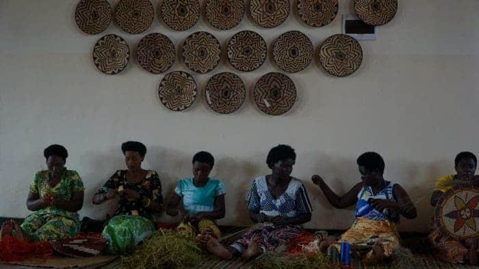 Rwanda Woven Sun Basket