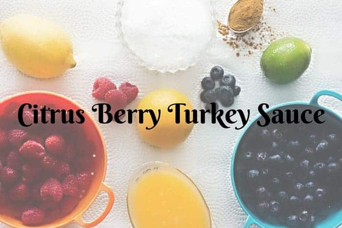 Cirtus Berry Turkey Sauce
