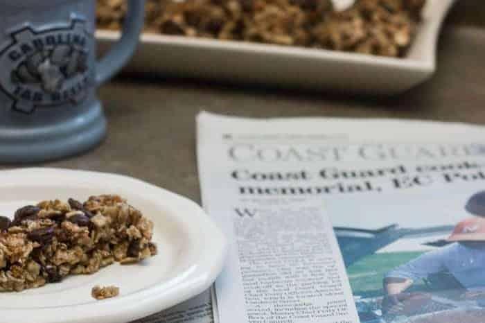 Chocolate Raisin Apple Granola Bars for Brekfast