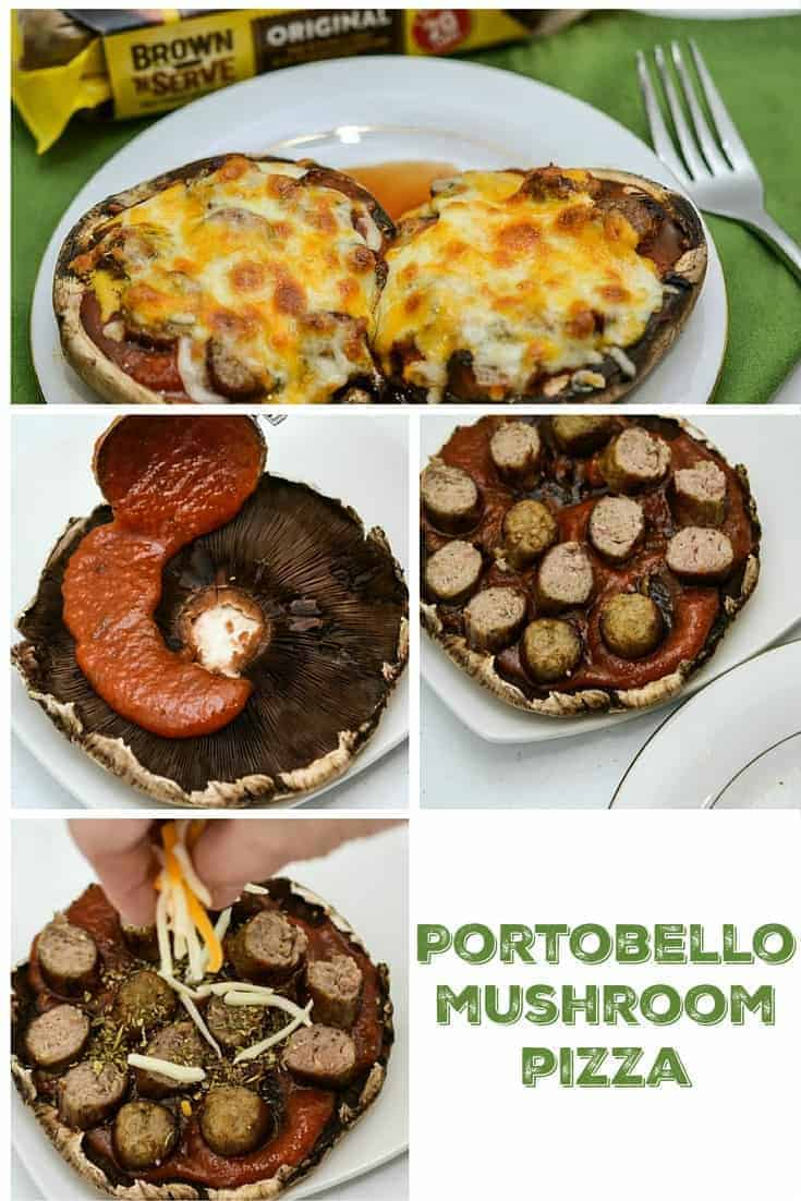 Portobello Mushroom Pizza Recipe Pinterest