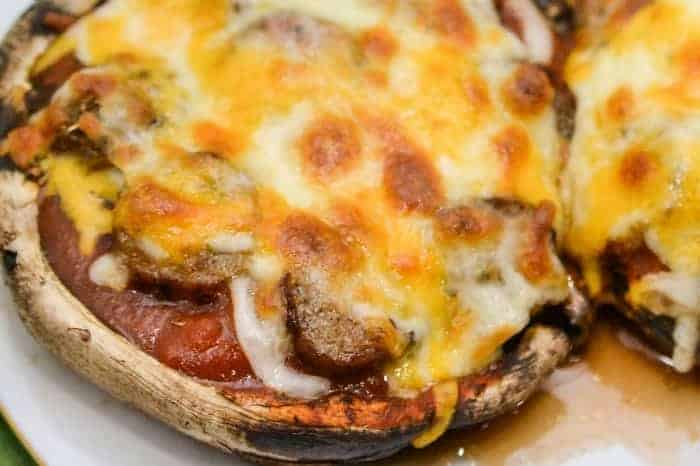 Portobello Pizza Made With Mushroom Crust