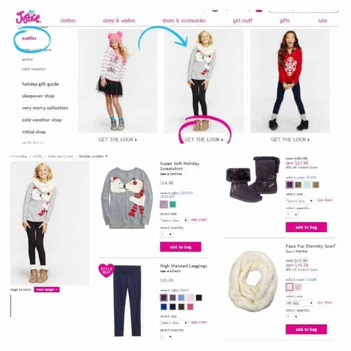 Shopping Online At Justice