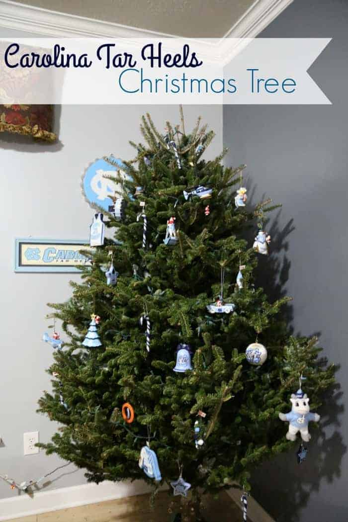 North Carolina Tar Heels Christmas Tree Faithfully Free