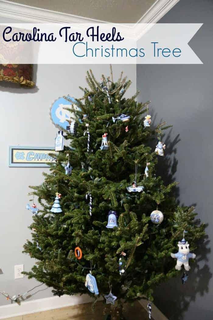 Carolina Tar Heels Christmas Tree