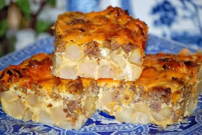 Sausage & Cheese Potato Casserole