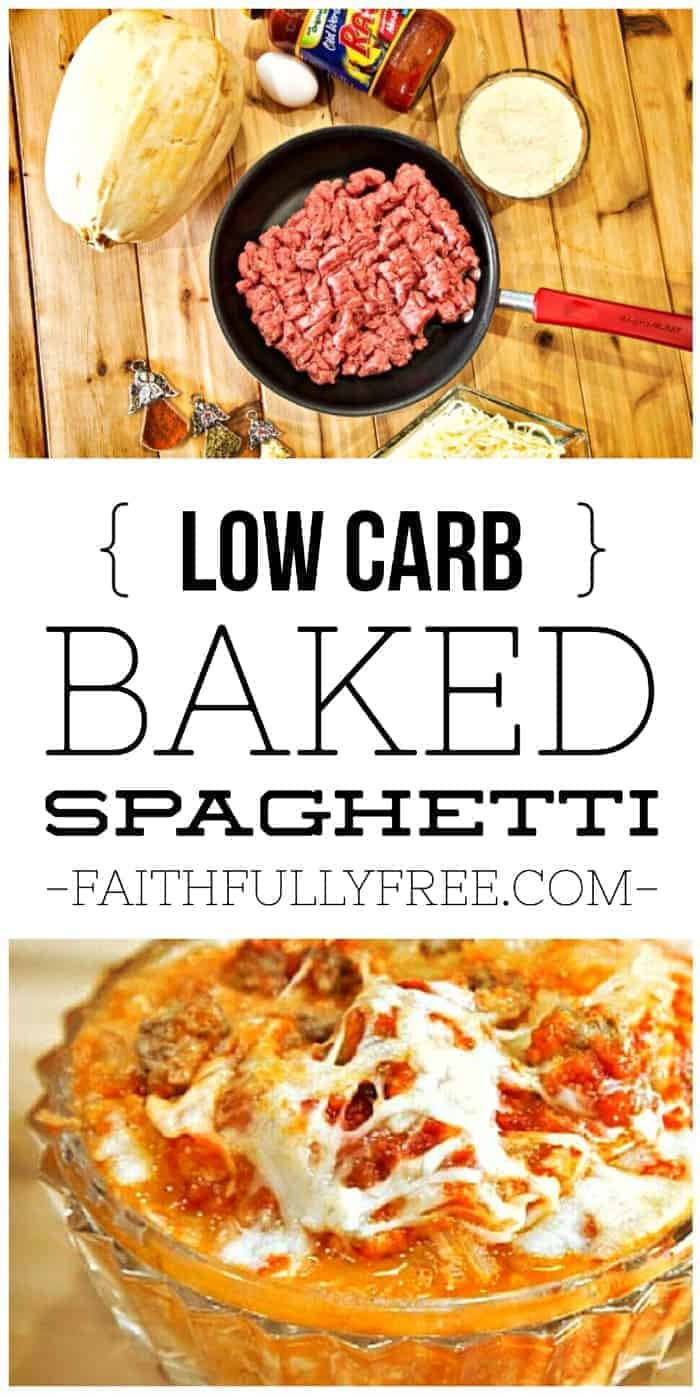 World's Best Low Carb Baked Spaghetti