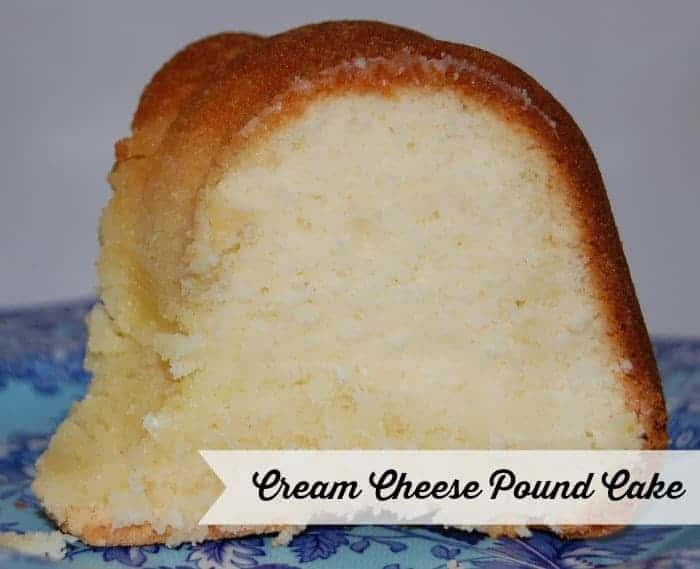 Light Cream Cheese Pound Cake