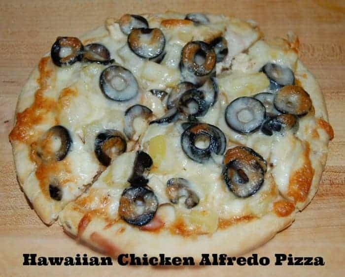 Hawaiian Chicken Alfredo Pizza