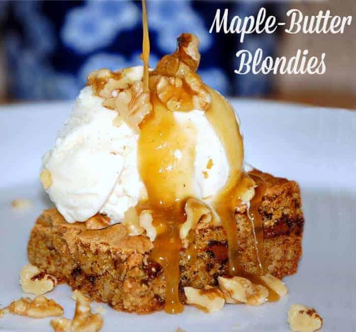 Maple Butter Blondies