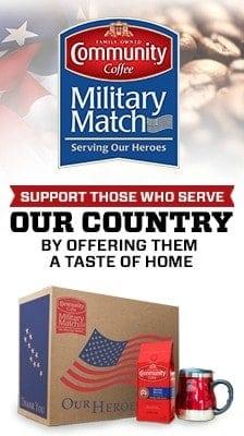 Community Coffee Military Match