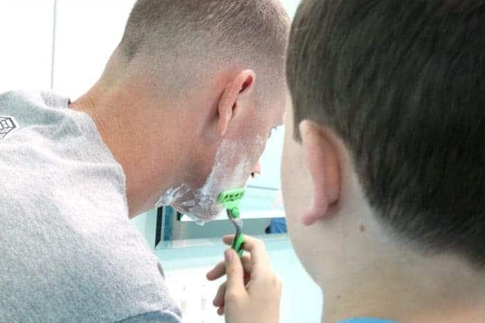 Jordan shaving Gillette