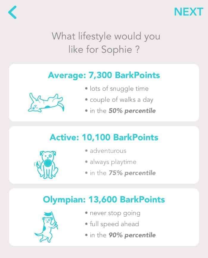 FitBark Goals