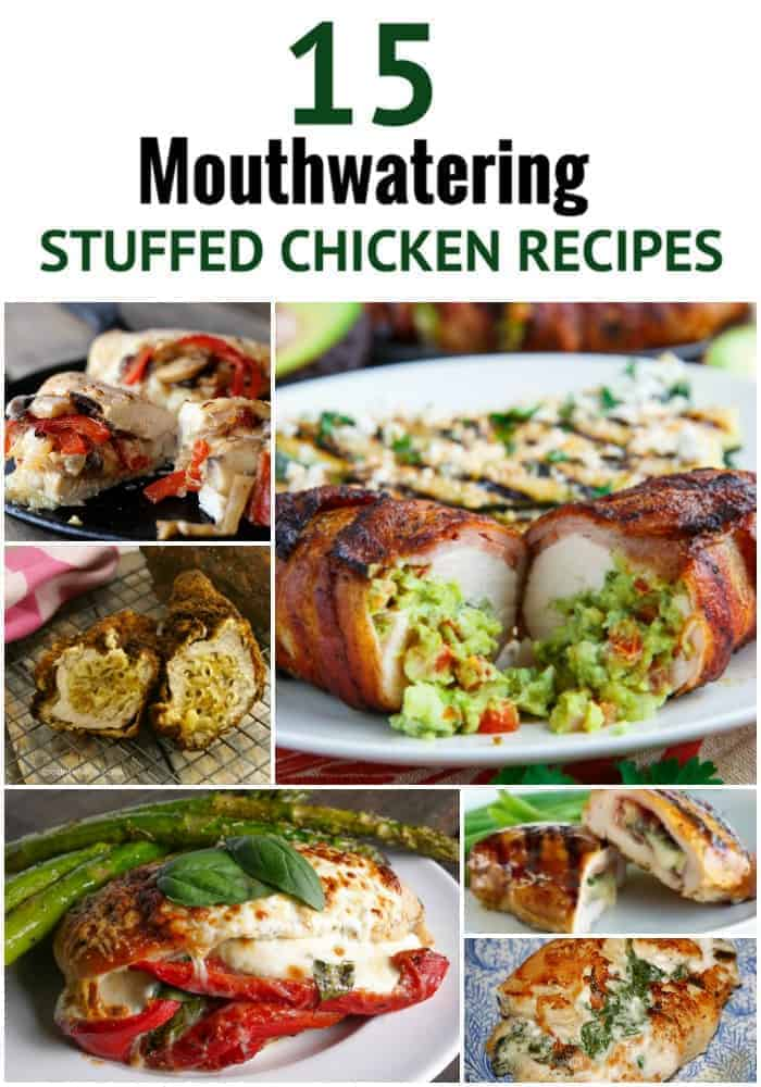 Stuffed Chicken Recipes that will make you go insane. Seriously, some of the best stuffed chicken recipes on the internet. How these easy stuffed chicken recipes haven't broken the internet is beyond me. I'm surprised they haven't all gone viral and caused all chicken farms to go out of business. Seriously, they are that good. Voted number one, even by people who don't like chicken. These unique stuffed chicken recipes are so good chickens would eat themselves.