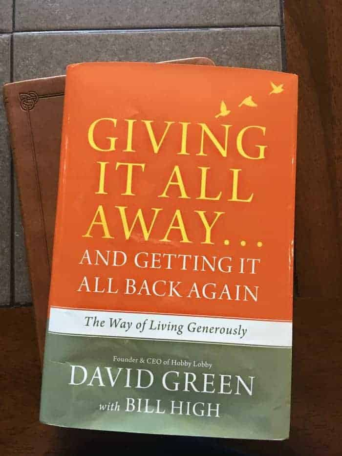 Giving It All Away Book - Hobby Lobby - AD