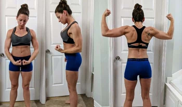 After Keto Diet photos showing, front, side, and back view