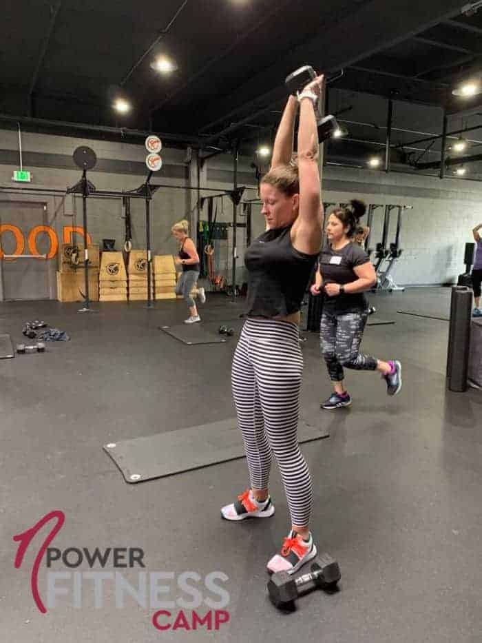 Woman Doing Tricep Extension